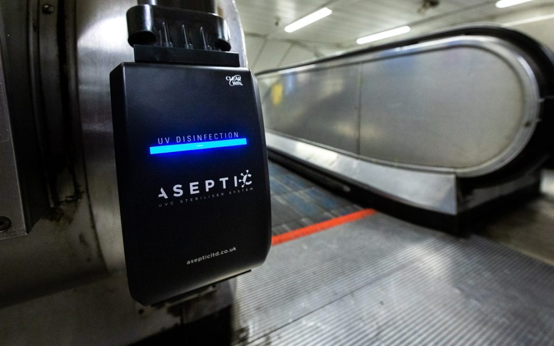 Installation of UV light devices on Tube escalators is latest step in TfL's extensive anti-viral cleaning regime