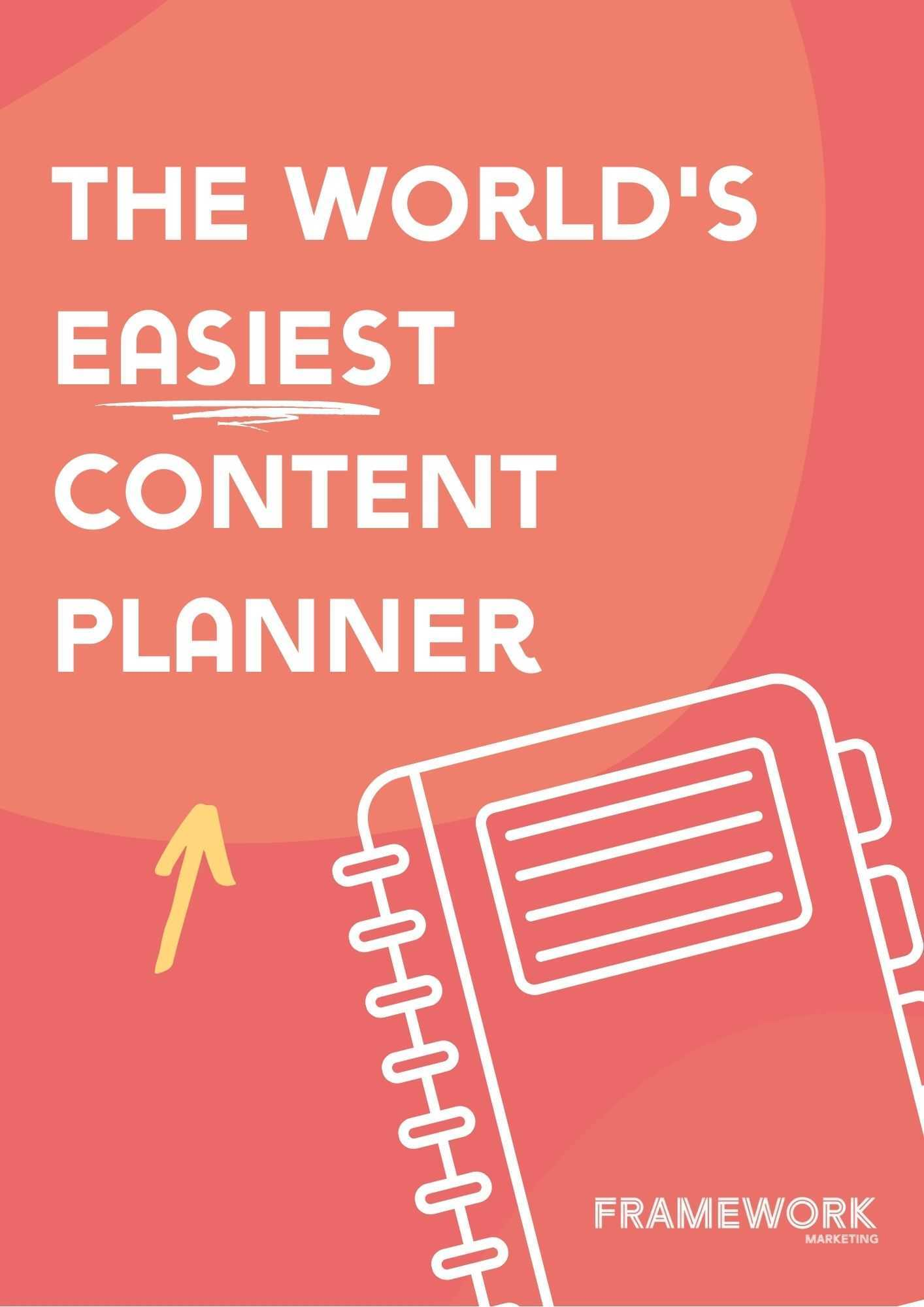 cover for the framework marketing fillable content planner